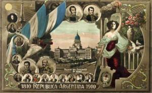 Postal de Mayo - Centenario