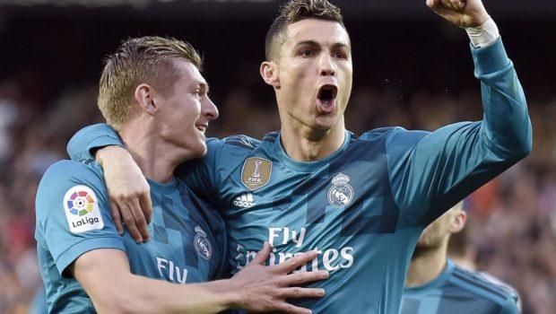Cristiano Ronaldo esulta dopo il goal realizzato al 97'