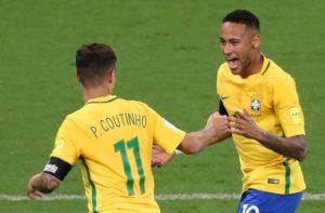 Neymar e Coutinho la coppia d'oro del Brasile