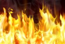 Materasso in fiamme