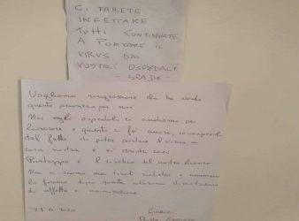 Castellammare di Stabia infermieri ricevono bigliettino incivile